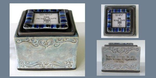 ceramic boxes with photo insert top