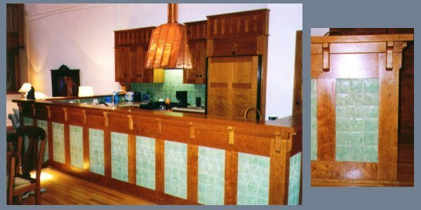 kitchen island wall tile