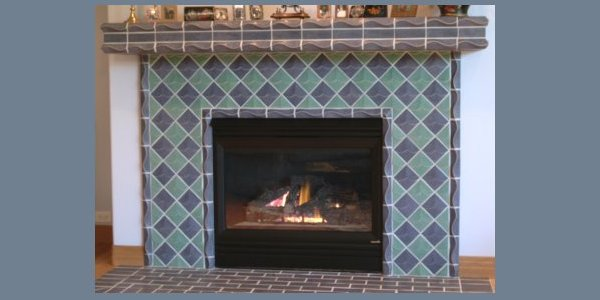 fireplace surround shingle tile